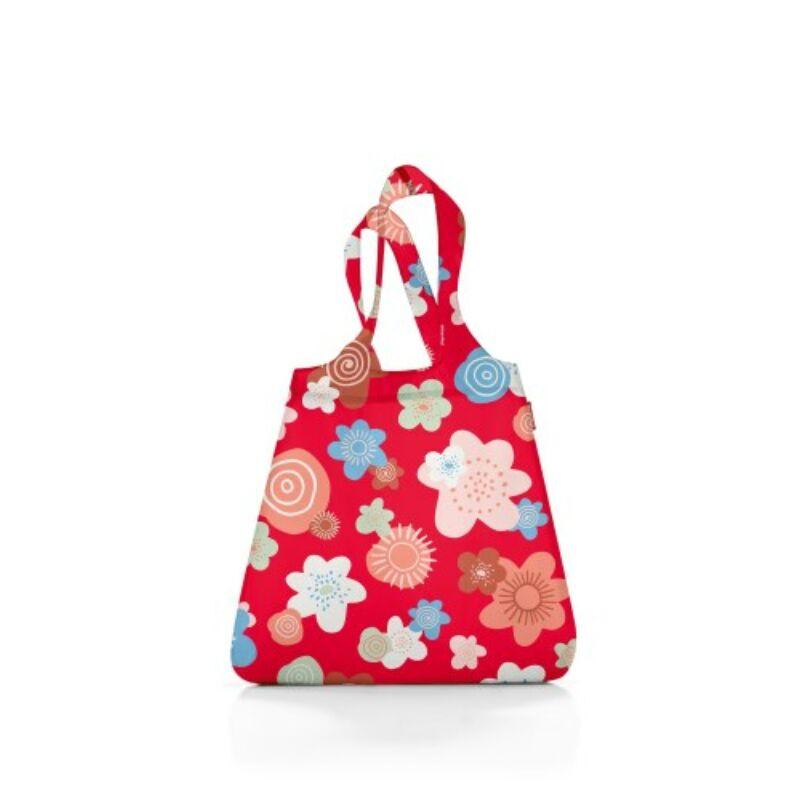 Reisenthel mini maxi shopper, piros virágos