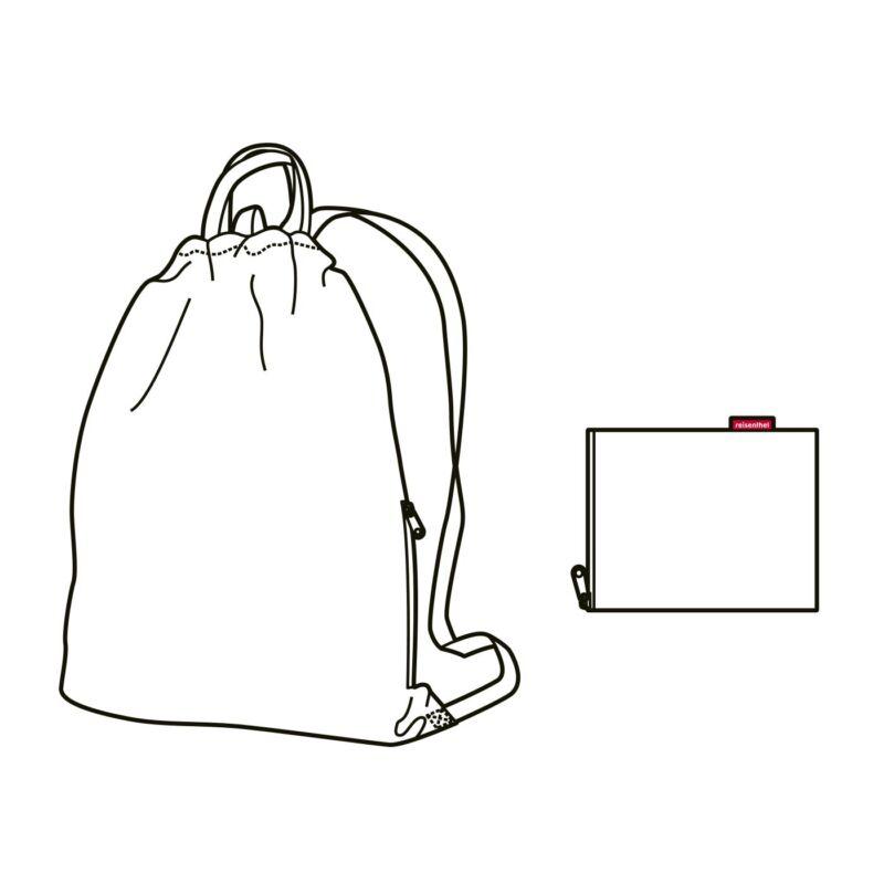 Reisenthel mini maxi sacpack hátizsák, dark ruby