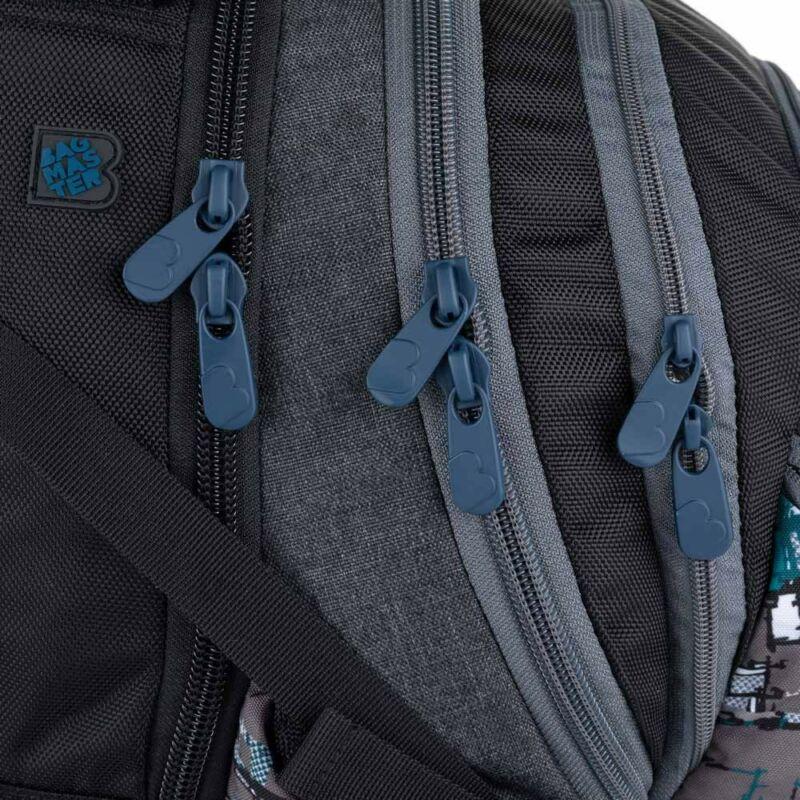 Bagmaster tinédzser háizsák BAG, zöld-szürke