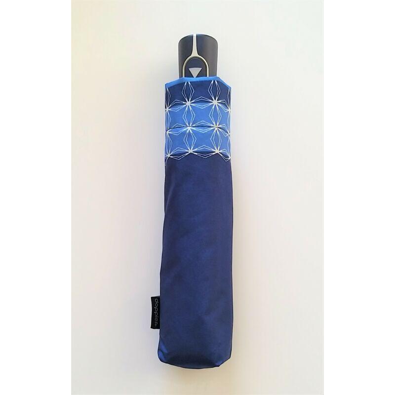 DOPPLER Fiber AC Graphics félautomata női esernyő, kék