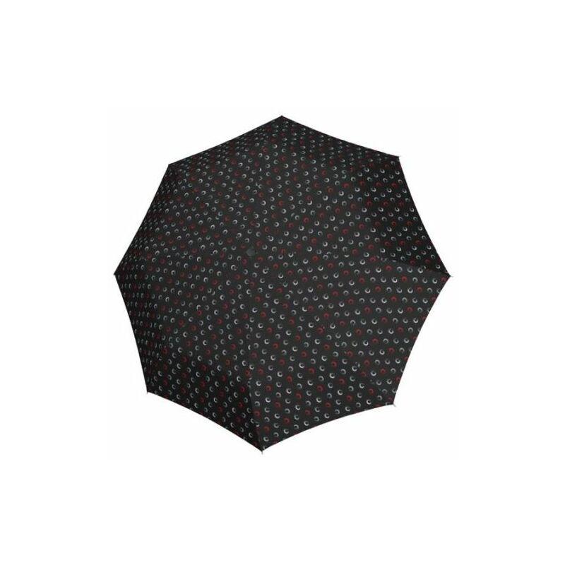 DERBY Hit Mini Hightlight manuális női esernyő, fekete