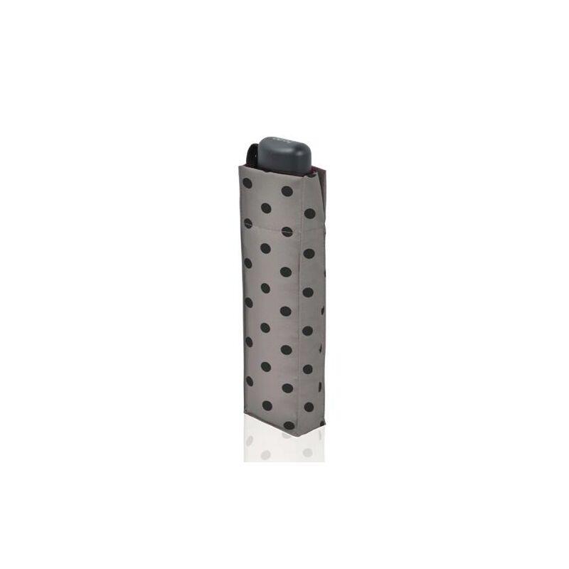 DERBY Hit Mini Flat Dots manuális női esernyő, szürke