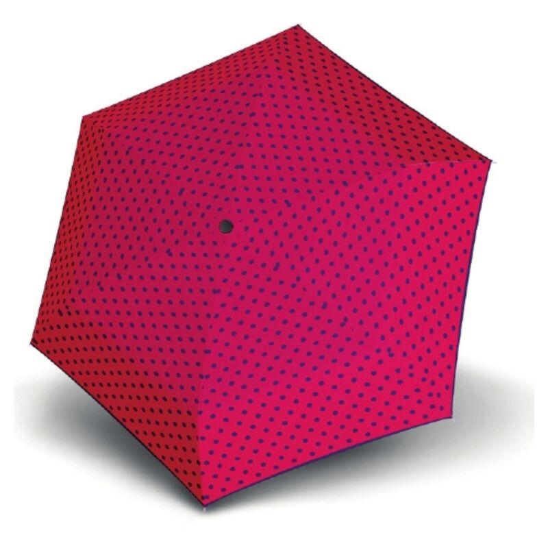 DERBY Hit Mini Flat Dots manuális női esernyő, ciklámen