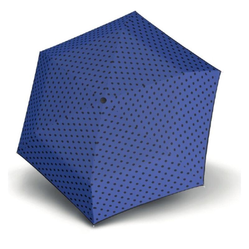 DERBY Hit Mini Flat Dots manuális női esernyő, kék