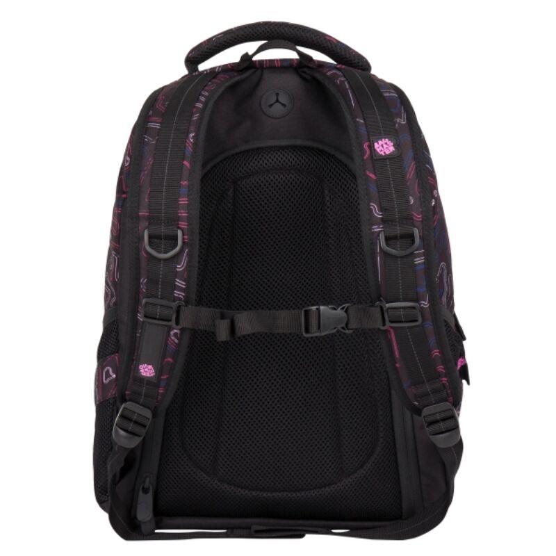 Bagmaster tinédzser háizsák DIGITAL, fekete-pink-kék