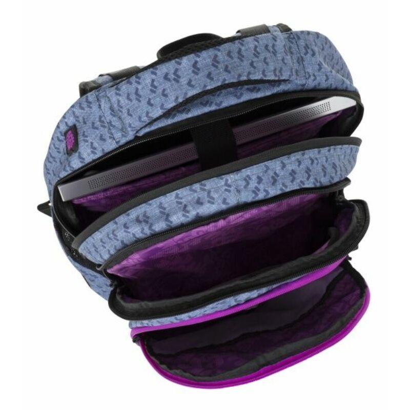 Bagmaster tinédzser háizsák DIGITAL, kék-pink-fekete