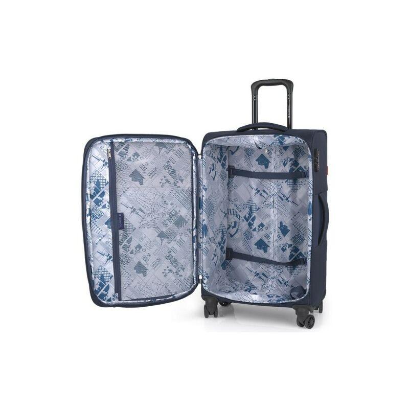 Gabol NORDIC 4-kerekes bővíthető bőrönd M, bordó