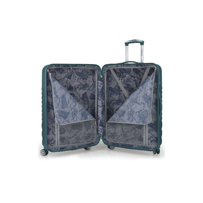 Gabol OPORTO 4-kerekes keményfedeles bőrönd szett, türkiz