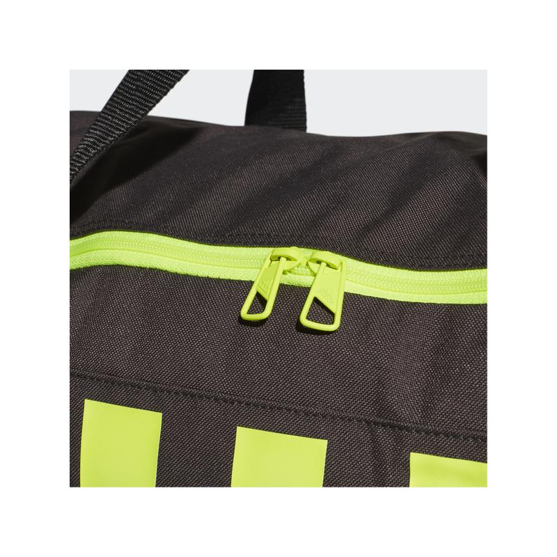 Adidas sporttáska 3S DUFFFLE M, sötétszürke-UV sárga