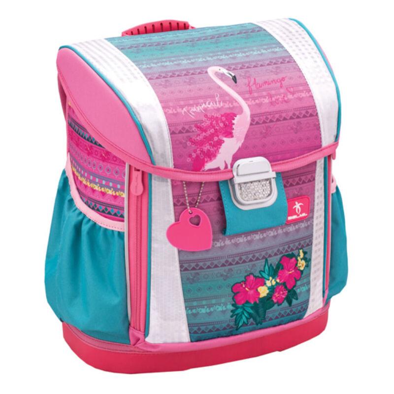 Belmil Customize-Me merev falú iskolatáska, Pink Famingo