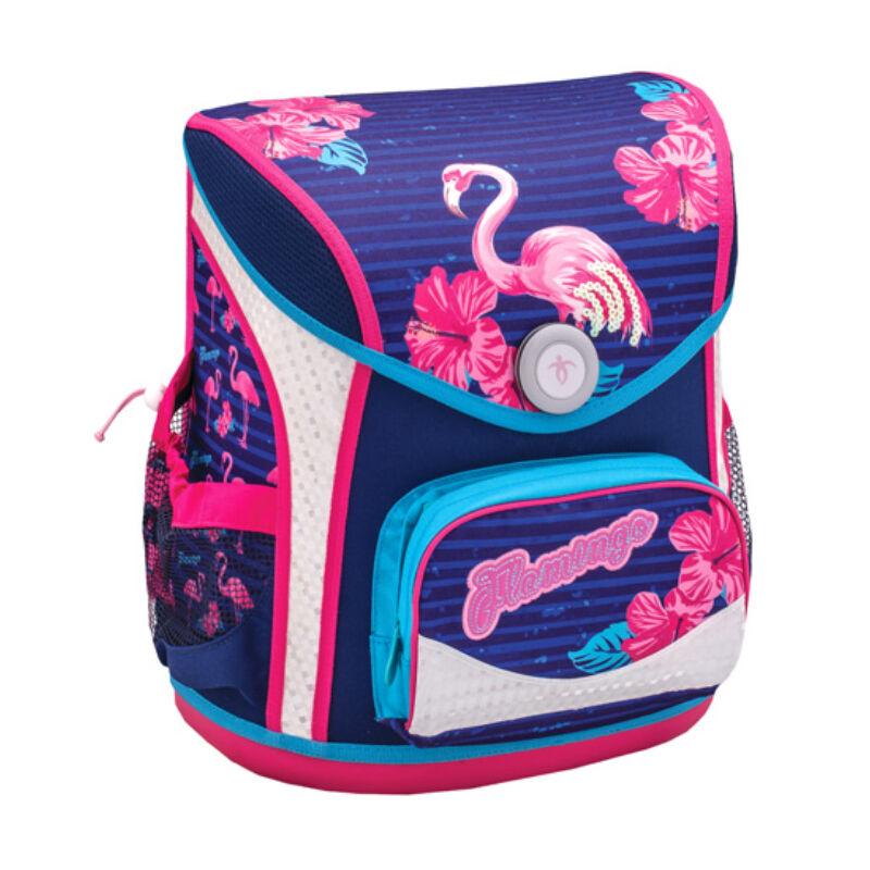 Belmil Cool Bag merev falú iskolatáska, Flamingo