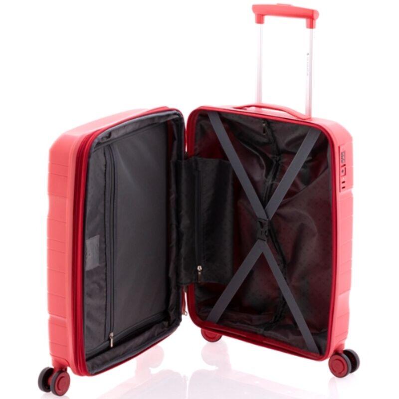Gladiator BOXING 4-kerekes keményfedeles bővíthető kabinbőrönd S, piros