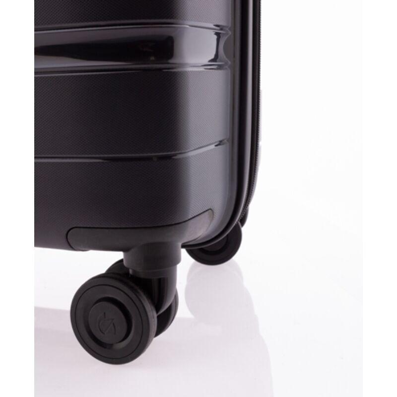 Gladiator BOXING 4-kerekes keményfedeles bővíthető bőrönd M, fekete