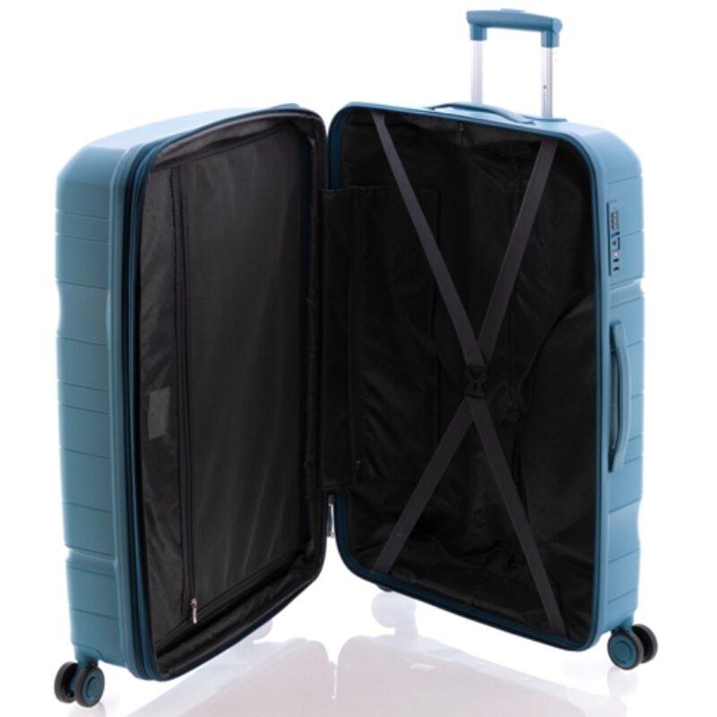Gladiator BOXING 4-kerekes keményfedeles bővíthető bőrönd L, piros