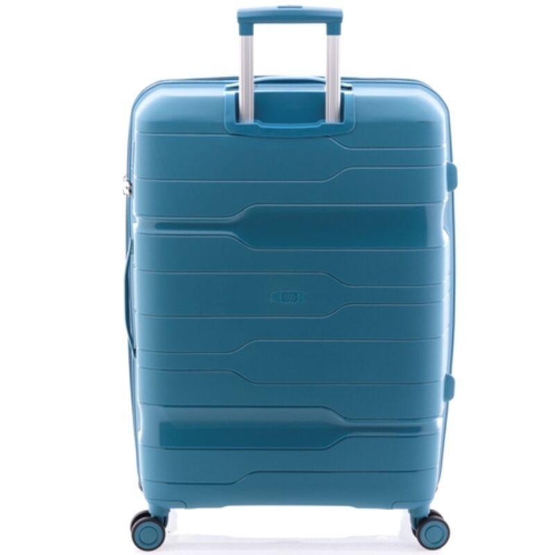 Gladiator BOXING 4-kerekes keményfedeles bővíthető bőrönd L, türkizkék