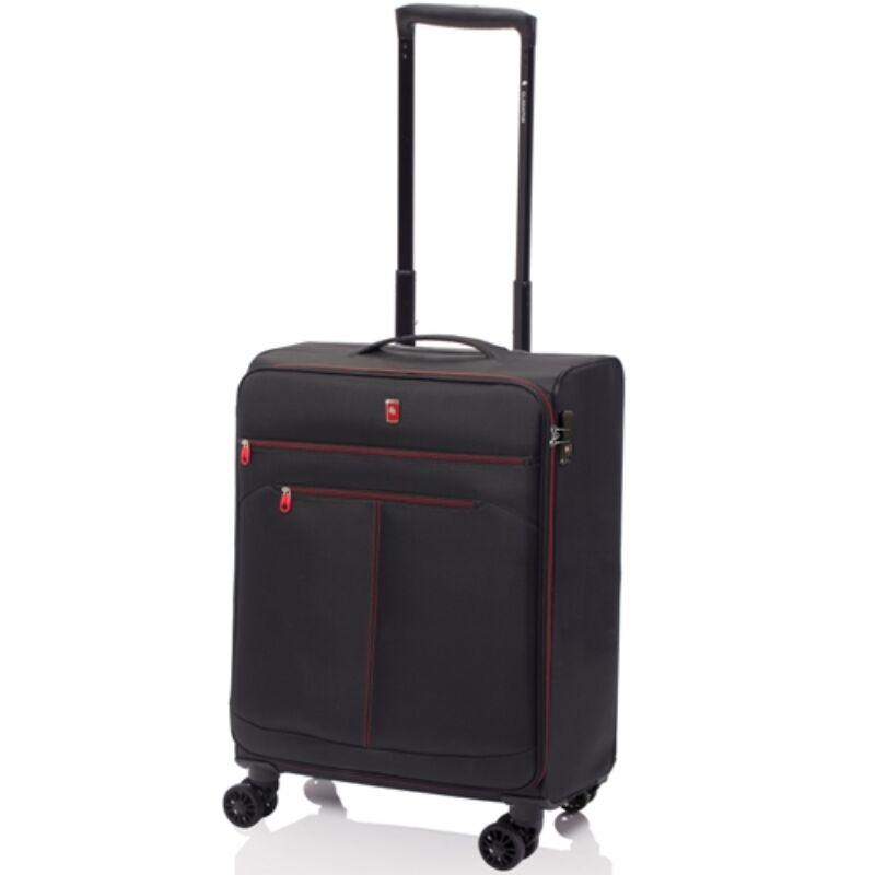 Gladiator WIND 4-kerekes kabinbőrönd S, laptoptartóval, fekete