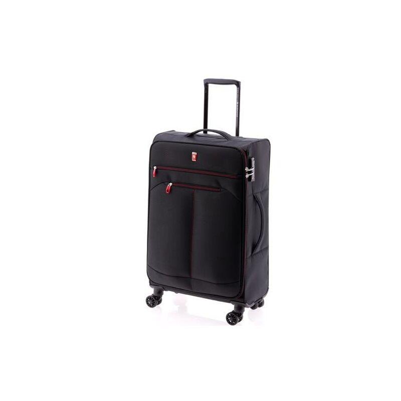 Gladiator WIND 4-kerekes bőrönd M, fekete