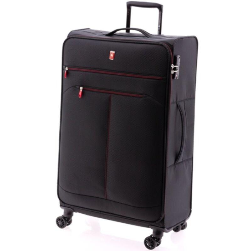 Gladiator WIND 4-kerekes bőrönd L, fekete