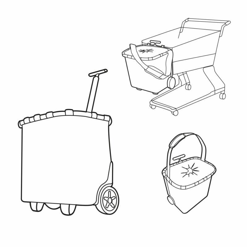 Reisenthel Carrycruiser bevásárlókocsi, twist silver