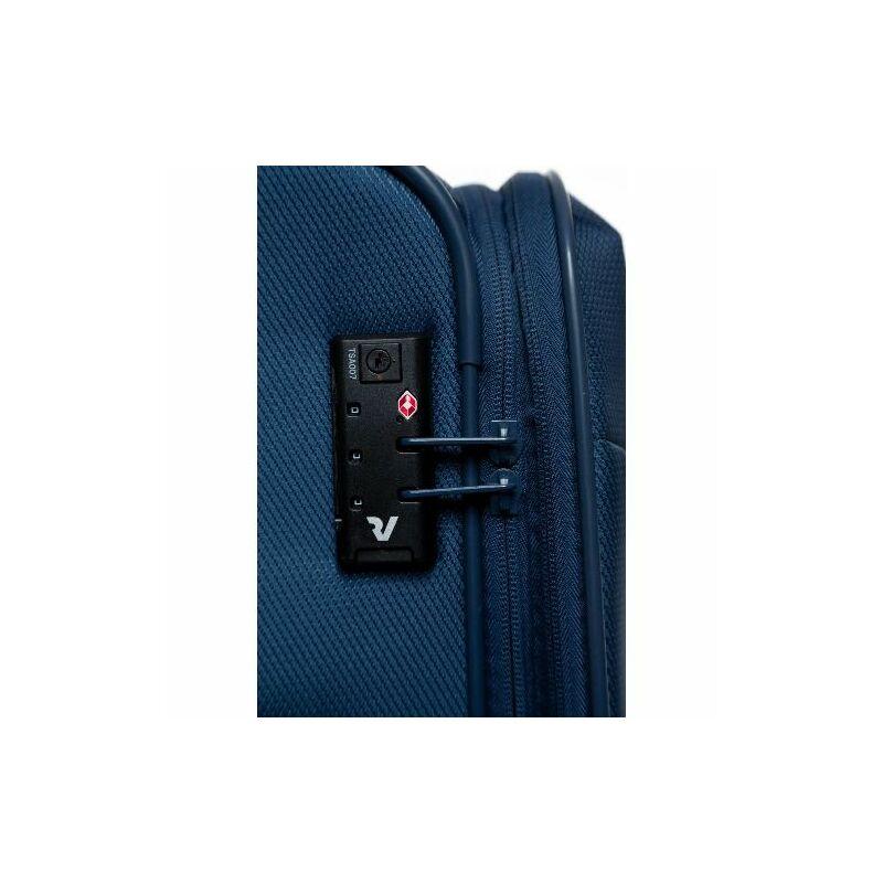 Roncato JAZZ 4-kerekes bővíthető bőrönd L, fekete