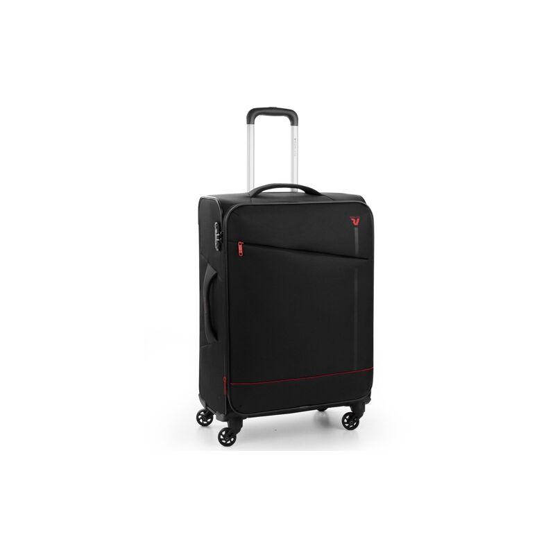 Roncato JAZZ 4-kerekes bővíthető bőrönd M, fekete