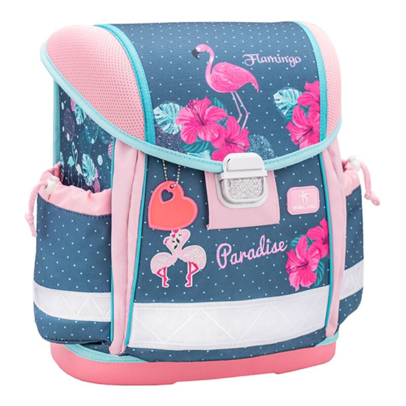 Belmil Classy merev falú iskolatáska, Flamingo Paradise