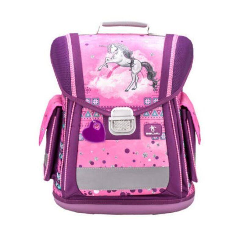 Belmil Sporty merev falú iskolatáska, Pinky Unicorn
