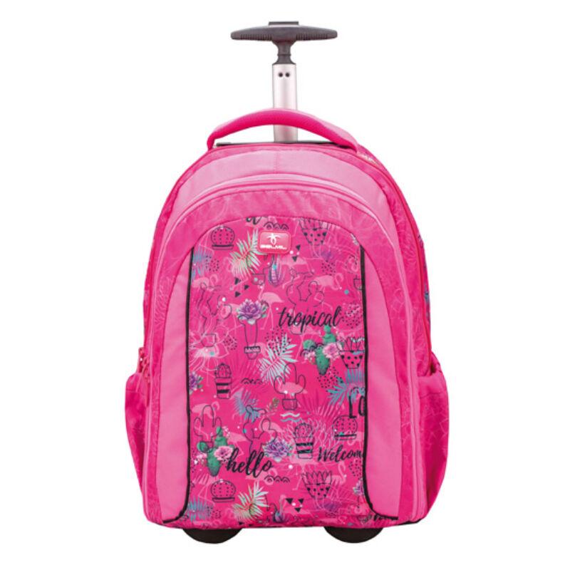 Belmil Easy Go trolley és hátizsák egyben, Tropical Flamingo