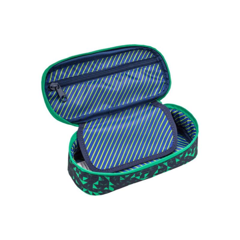 Belmil szögletes tolltartó, Triangle Green and Blue