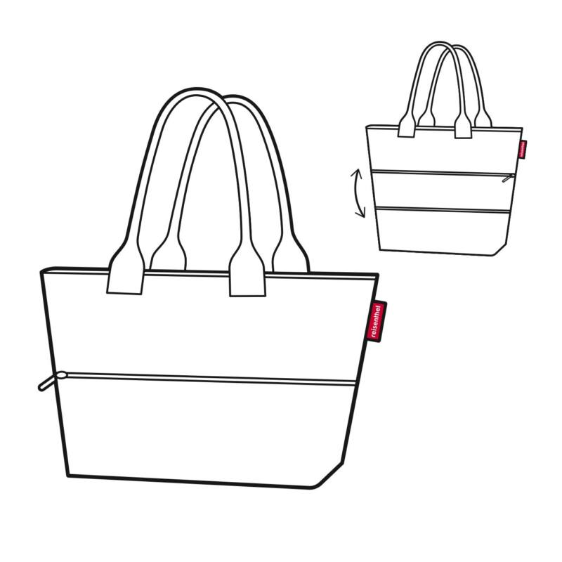 Reisenthel Shopper e1, twist silver