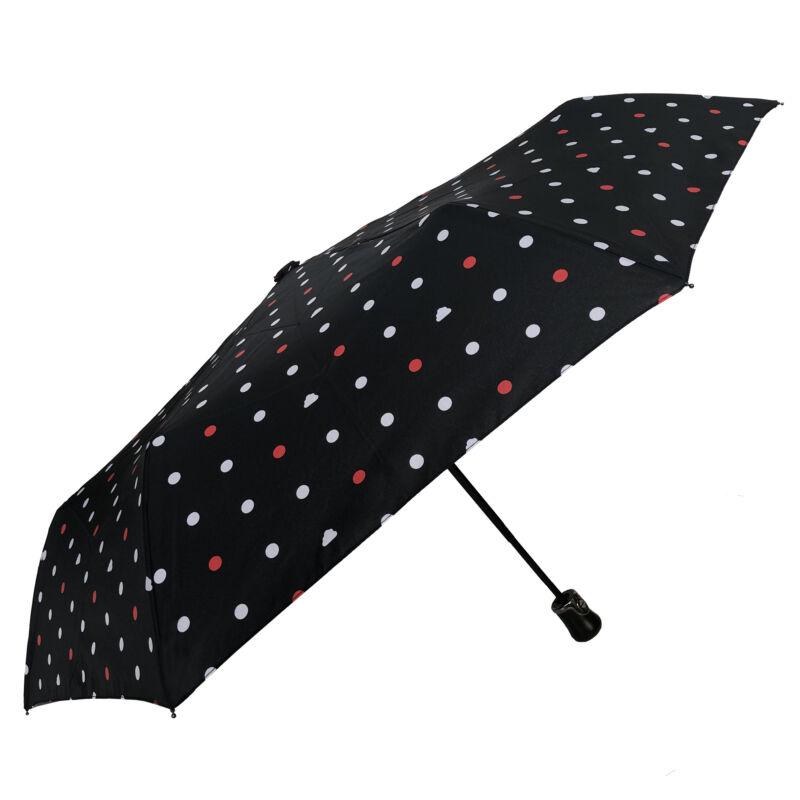 SMATI automata esernyő, színes pöttyös / piros