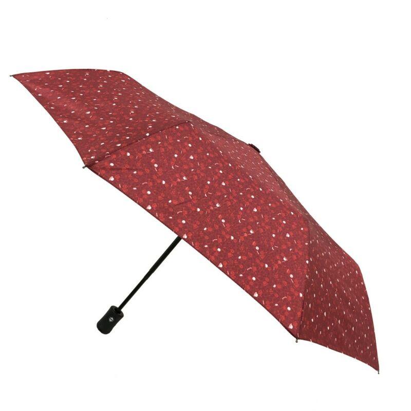 SMATI automata esernyő, bordó alapon mintás