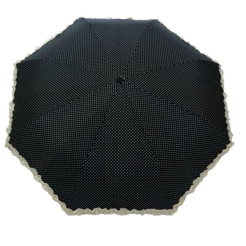 SMATI automata esernyő, fekete-fehér pöttyös