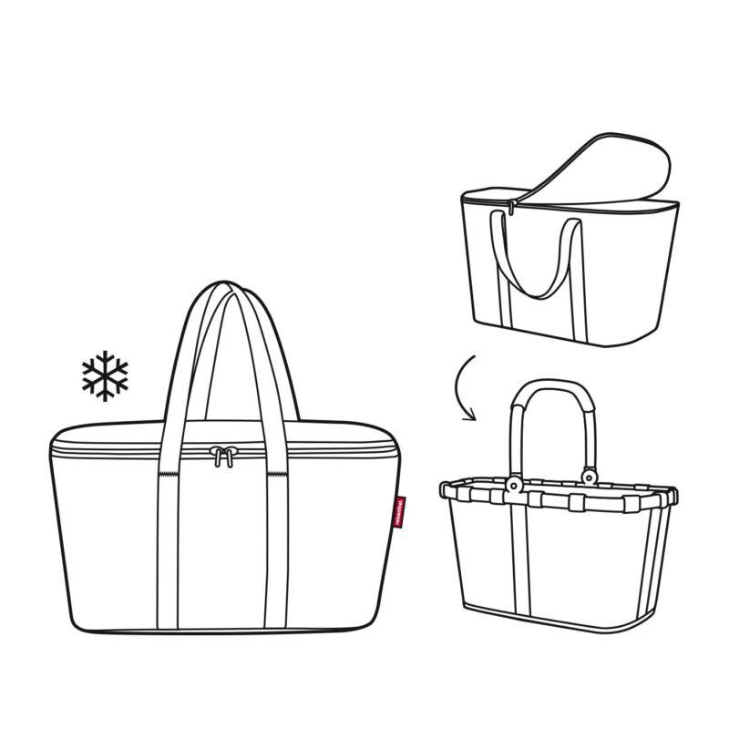 Reisenthel Coolerbag XS hűtőtáska, színes pötty