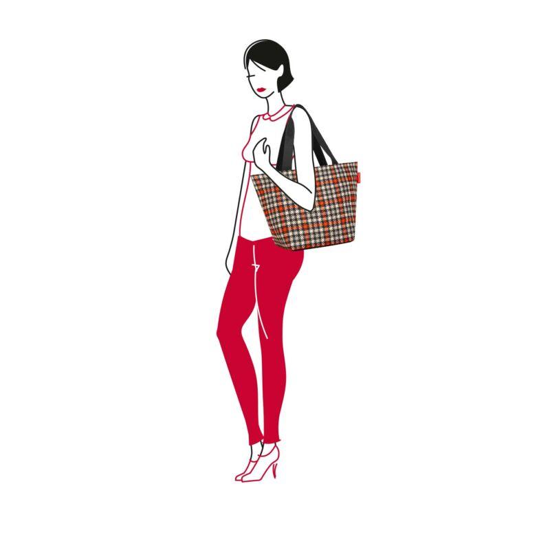 Reisenthel Shopper M,  glencheck red