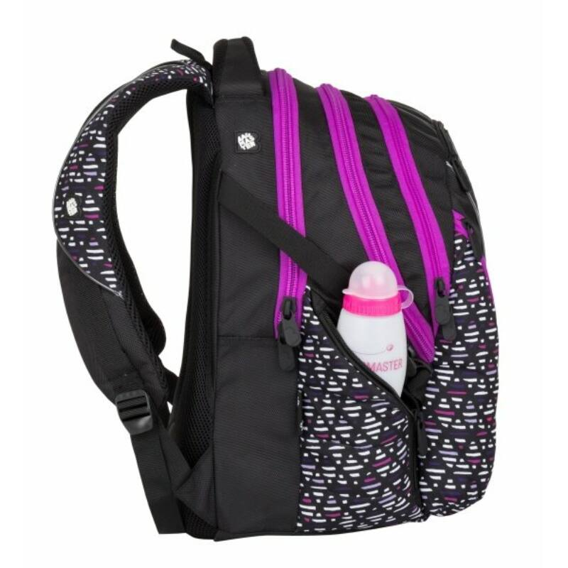 Bagmaster tinédzser háizsák BAG, fekete-pink-lila