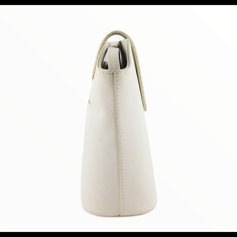 Ága Hengl Hanga női bőr alkalmi táska, krém fehér