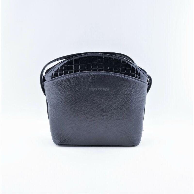 Ága Hengl Katica női bőr alkalmi táska, sötétkék