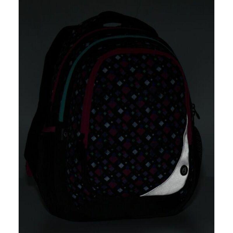 Bagmaster iskolatáska MAXVELL, fekete-pink