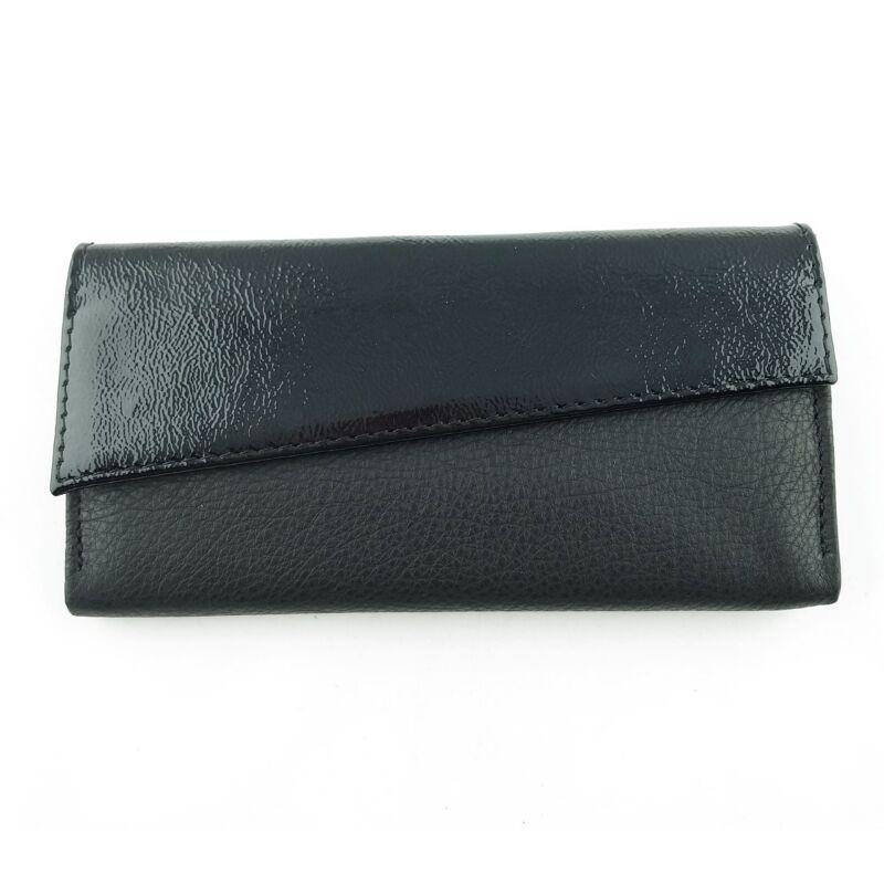Ága Hengl Zsuzsi női bőr pénztárca, fekete